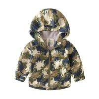 Jackets 2021 Winter Boys Plus Velvet Thick Camouflage Cotton-padded Jacket, Children's Hooded Warm Padded Fashion Ne
