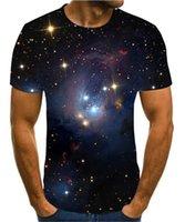 Futbol Formaları 2021 Moda Erkek Yaz Baskı Bilim Kurgu Gece Aurora Su T-shirt 3D Psychedelic S-6XL
