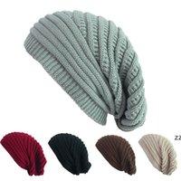 Yetişkin Yün Örme Şapka Akrilik Yumuşak Örme Şapka Kadın Cap Erkek Kız Kış Noel Açık Sıcak Şapka Tutun HWE8040