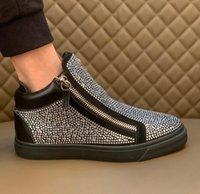Giuseppe sapatos casuais tênis de couro real homens sapatos chaussures de designer mocassins martin frankie o diamante de grão crocodilo