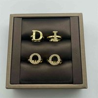D   di family new four piece ring for women can be worn separately, with fashionable temperament and full of diamond net red