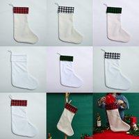 الفراغات التسامي عيد الميلاد جورز منقوشة هدية عيد الميلاد أكياس حزب هدايا الحلوى حقيبة شجرة عيد الميلاد زخرفة XD24835