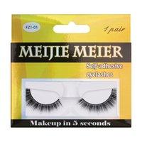 Handmade Fake Lashes Glue-free No Magnetic & Eyeliner Wear Directly Natural Long False Eyelashes Extension Makeup For Eyes 5 Models DHL Free