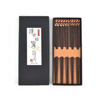 Kamp Seyahat Eşyaları 5 Çiftler Premium Kullanımlık Yemek Çubukları Hediye Seti Japon Tarzı 9 Inç / 23 cm Suşi Erişte Için Geri Dönüşümlü Pirzola Sticks