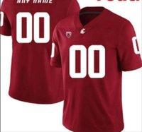 Profesyonel Özel NCAA Koleji Formaları Washington State Cougars Jersey Logo Herhangi bir Numara ve İsim Tüm Renkler Erkek Oyuncu Futbol Gömlek Giymek A