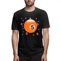 T-shirt da biliardo da uomo manica corta Estate Tops moda tee