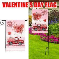 Bonsai Tree Valentines Day Garden Flag، Double Hidine House Flags Decorations