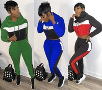Trainingsanzüge Patchwork Casual mit Kapuze Zweiteiler Set Frauen Langarm Sportwear Hoody und Sweatpant Club Outfit Casual Anzüge