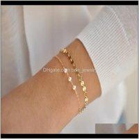 Link, Chain Bracelets Jewelrycross-Border Creative Freshwater Pearl Jewelry Independent 2-Piece Set Fashion Simple Personality Female Bracele