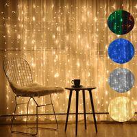 3m x 3m 220V UE / 110V US Plug Digital Digital Água Pactinas à prova d 'água luzes decoração de férias casamento luz de Natal ao ar livre