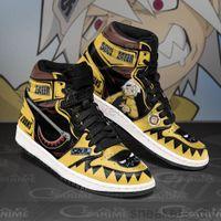 Anime Fan DIY Sneakers SOUL EATER Mens Womens Basketball Shoes Jumpman 1 Model Custom Trainers Casual shoe