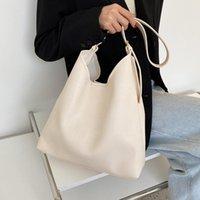 Evening Bags Big Women Bucket Bag Soft Leather Shoulder 2 Pieces Set Totes Crossbody Casual Shopping Handbag Large Female Hobos