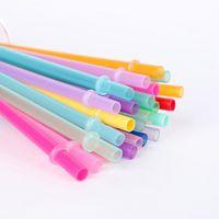 PP المواد أنابيب شفط متعدد الألوان قابلة لإعادة الاستخدام الشرب سماكة سماكة شفافة أنبوبي المشبك الرئيسية بار زجاج كوب جديد وصول 0 2SZ N2