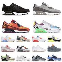 nike air max airmax 90 off white وسائد كلاسيكية للركض أحذية رياضية للرجال والنساء باللون الأسود والأبيض الفاتح والدخان والرمادي Trail Team باللون الذهبي والطحلب والأخضر