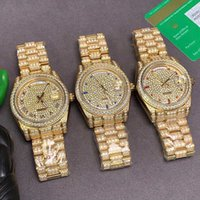 Mens Watch Automatic Mechanical Watches 40mm Stainless Steel Case Full Diamond Ladies wristwatch Original Buckle Montre de Luxe