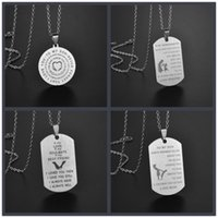 Pendant Necklaces Army Tactical Soldier To My Son Daughter Friend Card Man Necklace &Pendants Stainless Steel Fashion Keychain Men Jewelry