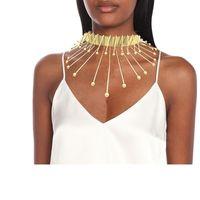 Colar colares pingentes vintage exagerado étnico chunky colar gargantilha colar traje jóias