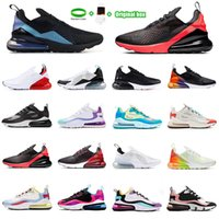 [With box] Air Max 270 2021 27 Coussin Sneaker Casual Chaussures 27C Trainer Road Star Star Sprite Homme Général Parra Punch Photo 27S Hommes Femmes 36-45