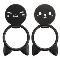 Evrensel Standı Sahipleri Karikatür Kedi Hayvanlar Şekilli Parmak Yüzük Telefon Tutucu Dönen Tablet Mobil Cep Telefonu Için Standı