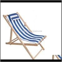 Und Camping Wanderung Sport im Freien Tropfen Lieferung 2021 Massivholz Falten Strand Deckstuhl Outdoor Portable Sun Lounger mit Kissenlagerfell