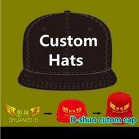 Пользовательские бейсбольные колпачки регулируемые плоские прессованный хип-хоп Snapbacks Hats Fated Cavet Hat Шляпа Вышивка Печатка логотип Взрослый Дети Доступно