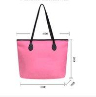 Stilvolle solide Farbe Große Kapazität Hand B / L Umhängetasche Moderne Faltbare Freizeit Umweltschutz Nylon Wasserdichte Tasche Für Frauen