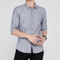 Algodão Curto Men's Business Trend Casual No Ferro Ferro Formal Manga Médio Camisa Branco Slim Fit Professional Wear9uwq
