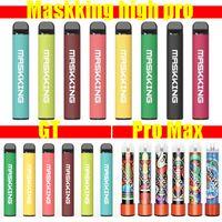 MK GT 450 Maskking High Pro 1000 MK Pro Max 1500 Puffs Descartáveis E-Cigarros Vape Pen Vape Preffurado Pod Pod Kit Starter