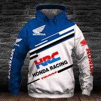 Honda Honda Motorcycle Racing Hoodie 3D Impressão digital Zip Hooded Harajuku Moda Casual Suéter Homens Roupa