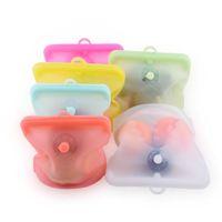 로드 무료 날짜 포인터 식품 등급 실리콘 가방 식품 냉동고 봉인 커버 식품 포장 가방 저장 가방 HHC6718