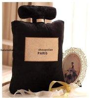Stilkissen zum Lehnen auf 50x30 cm Parfümflaschenformkissen zum Lehnen auf schwarz-weißem Modekissen zum Lehnen auf V K