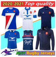 20/21 Франция Super Rugby Jerseys Жилет с курткой 2020 2021 Франция Рубашки Rugby Maillot De Fang French Boln Rugby Рубашка Куртки Таиланд