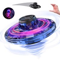 Mini Drone UFO Flynova Flying Fidget Spinner Hand Operated Induction Aircraft Toys For Kids Quadrocopter Dron Suspended Fall Resistant