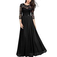 Borruice verano vintage sexy encaje mujer fiesta vestido largo elegante bordado hueco fuera gasa maxi vestidos lady chic vestido