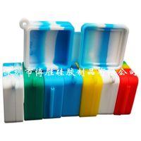 Nichtstick Wachscontainer 9 ml Blockform Silikon Food Grade Gläser DAB Werkzeug Aufbewahrungsgefäß Öl Halterung Für Verdampfer Rauchen Zubehör 505 R2