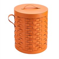 Living Room Furniture High quality man-made leather woven storage basket, 15 colors, mass customization size, wardrobe, bedroom and household products