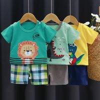 Children's 1 Short Sleeve 2 Sets 3 Summer 4 Boys' Clothes Baby Cotton Girls' Shorts