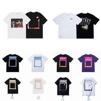 2021 Summer Mens Mujeres Diseñadores T Shirts Camisetas sueltas Moda Marcas Tops Hombre Casual Camisa Lujos de lujo Ropa Calle Shorts de la calle Ropa de manga Tshirts Tamaño grande europeo