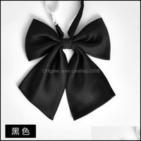 Neck Fashion Aessoriesneck Ties Student Bow Tie Solid Color Collar Flower Tie1 Drop Delivery 2021 Wpaoc