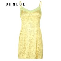Pickeep Polka Dot Pizzo Patchwork con scollo a V Donne Mini Dress Summer Backless senza maniche Sexy Casual Abiti eleganti Abiti eleganti Vestido