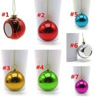 Sublimationsrohling Weihnachtskugel 6cm Dekoration Sublimation Transferdruck Wärmepresse DIY Geschenke Handwerk DRUCK WWA293