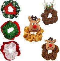 Weihnachten Elch Santa Grils Haarschleife Flannelette Große Darm Kinder Elastische Kopfschmuck Weihnachtsbaum Haarnadel Kinder Haarschmuck H81YXJE