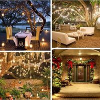 LED Strings Lamp Copper Wire Solar Lights 10 20m IP65 Waterproof Fairy Light 8 Mode Outdoor for Garden Christmas Wedding Party Tree Decoration Holiday lighting