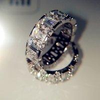 18Kホワイトナチュラル5 S MOISSANATEジュエリー宝石のストーンBizuteria Solid 18 KゴールドAnillos de Ring女性男性アクセサリー