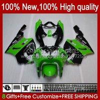 Тело кузова для Kawasaki Green Black New Ninja ZX-750 ZX7R ZX750 ZX 7 R ZX 750 28HC.17 ZX 7R 1996 1997 1998 1999 2000 2001 2002 2003 ZX-7R 96 97 98 99 00 01 02 03 OEM FACKING