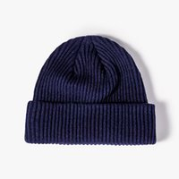 Beanies LDSLYJR 2021 Autumn And Winter Acrylic Solid Color Thicken Knitted Hat Warm Skullies Cap Beanie For Men Women 68