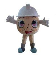 Halloween Egg Mascot Traje de Alta Qualidade Personalizar Dos Desenhos Animados De Anime Tema Caráter Adulto Tamanho Do Natal Carnaval Fantasia Vestido