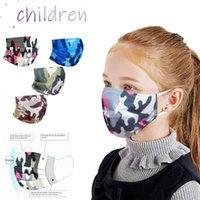 Halloween Cos 4pcs Camouflage Print Kids Disposable Face Maks Hijab Designer Mask for Cubrebocas Maske Mascarillas