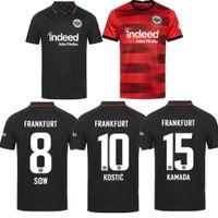 21 22 Eintracht Frankfurt Uzakta Kırmızı Futbol Formaları 2021 2022 Die Adler Sow Silva Kostic Jovic Futbol Üniforma Çocuk Seti Hasebe Kamada Jersey Hinteregger Maill