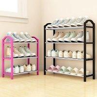 Zapatos Estante Almacenamiento Estante Aluminio Metal Puesto DIY DIY Muebles Muebles Organizador Accesorios Zapato Ropa Armario